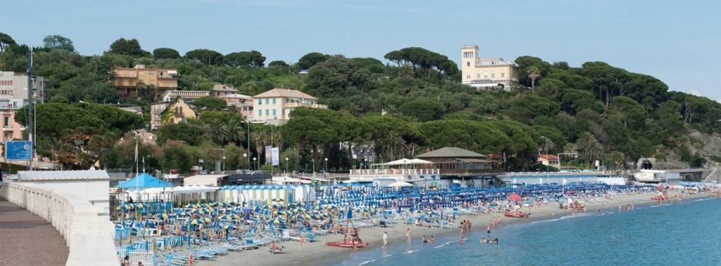 Hotels in Liguria near the beach.